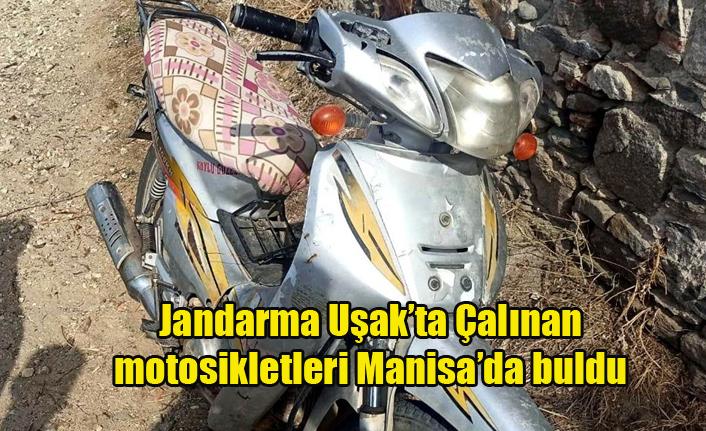 Jandarma Uşak'ta Çalınan Motosikletleri Manisa'da Buldu
