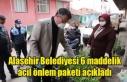 Alaşehir Belediyesi 6 maddelik acil önlem paketi...