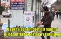 Uşak'ta şehrin dört bir yanına el dezenfekte...