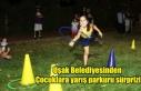 Uşak Belediyesinden Çocuklara yarış parkuru sürprizi