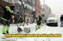 Uşak Belediyesi'nden karla etkin mücadele