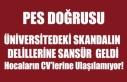 ÜNİVERSİTEDEKİ SKANDALIN DELİLLERİNE SANSÜR...