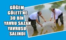 GÖĞEM GÖLETİ'NE 30 BİN YAVRU SAZAN YAVRUSU SALINDI