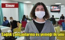 Sağlık çalışanlarına ev yemeği ikramı