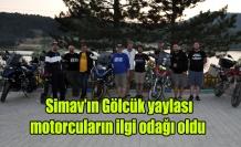 Simav'ın Gölcük yaylası motorcuların ilgi odağı oldu