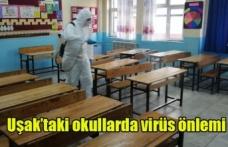 Uşak'taki okullarda virüs önlemi alınmaya başladı