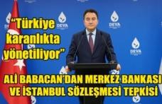 """DEVA Partisi Genel Başkanı Ali Babacan: """"Türkiye karanlıkta yönetiliyor"""""""