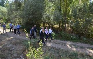 Yürüyüş Parkurlarına Yön Levhaları Takılarak...