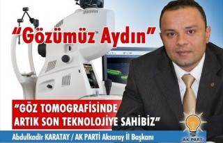 Aksaray Göz Tomografisinde Artık Son Teknolojiye...