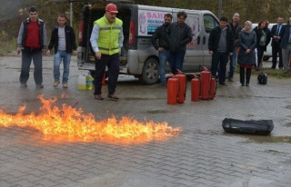 SAÜ'de Yangın Tatbikatı