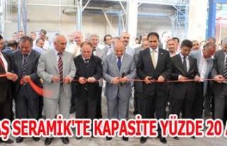 UMPAŞ SERAMİK'TE KAPASİTE YÜZDE 20 ARTTI