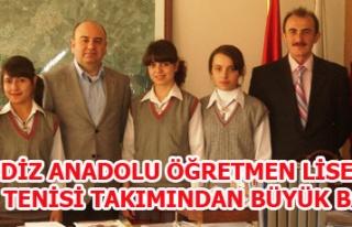 GEDİZ ANADOLU ÖĞRETMEN LİSESİ MASA TENİSİ TAKIMINDAN...