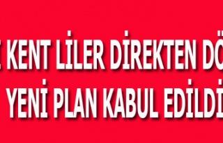 BATI KENT LİLER DİREKTEN DÖNDÜ YENİ PLAN KABUL...