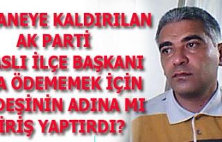 HASTANEYE KALDIRILAN AK PARTİ SİVASLI İLÇE BAŞKANI...