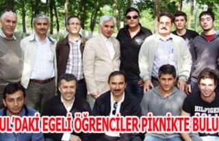İSTANBUL'DAKİ EGELİ ÖĞRENCİLER PİKNİKTE BULUŞTULAR