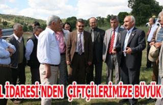 İL ÖZEL İDARESİ'NDEN ÇİFTÇİLERİMİZE BÜYÜK...