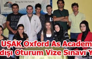 UŞAK Oxford As Academy Yurtdışı Oturum Vize Sınavı...