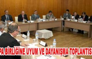 AVRUPA BİRLİĞİNE UYUM VE DAYANIŞMA TOPLANTISI...
