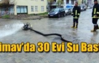 Simav'da 30 Evi Su Bastı