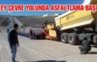 UŞAK'TA KUZEY ÇEVRE YOLUNDA ASFALTLAMA BAŞLADI