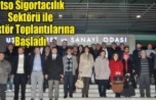 UTSO SİGORTACILIK SEKTÖRÜ İLE SEKTÖR TOPLANTILARINA...