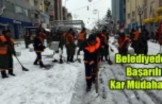 Belediyeden Başarılı Kar Müdahalesi