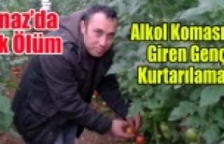 BANAZ'DA ALKOL KOMASINA GİREN GENÇ YAŞAMINI...