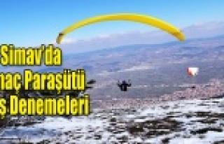 SİMAV'DA YAMAÇ PARAŞÜTÜ HEYECANI