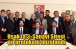 Uşak'ta 3. Sanayi Sitesi Ön Protokolü İmzalandı