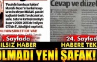 GEDİK PİLİÇ İLE İLGİLİ YANLIŞ HABER 1.SAYFADAN...