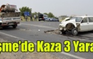 UŞAK'TA KAZA 3 YARALI
