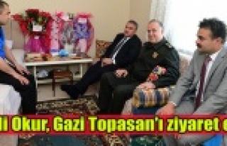 Vali Okur, Gazi Topasan'ı Ziyaret Etti