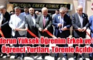 Yeni Türkiye Vakfınca Yaptırılan Yurtlar Açıldı