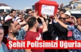 ŞEHİT POLİSİMİZİ SON YOLCULUĞUNA ON BİNLER...