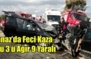 BANAZ'DA FECİ KAZA 1 ÖLÜ 3'Ü AĞIR 9...