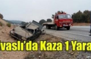 SİVASLI'DA KAZA 1 YARALI
