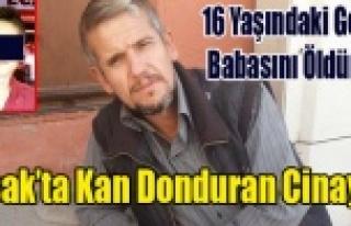 UŞAK'TA 16 YAŞINDAKİ GENÇ BABASINI BOĞAZINI...