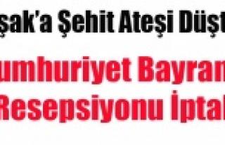 UŞAK'TA CUMHURİYET BAYRAMI RESEPSİYONU İPTAL...