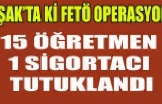 UŞAK'TA FETÖ'DEN 14'Ü ÖĞRETMEN...