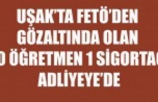 UŞAK'TA FETÖ'DEN GÖZALTINA ALINAN 20...