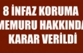 GÖZALTINA ALINAN 8 İNFAZ KORUMA MEMURUNUN AKIBETİ...