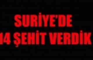 SURİYE'DE 14 ŞEHİT VERDİK