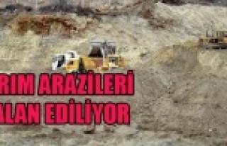 TARIM ARAZİLERİ TALAN EDİLİYOR, KİMSEDEN DUR...