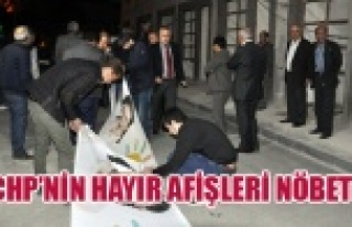 CHP MİLLETVEKİLİNİN OTELİNDEKİ AFİŞLERE AK...