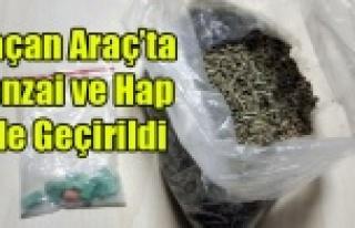 UŞAK'TA POLİS'TEN KAÇAN ARAÇ'TA...