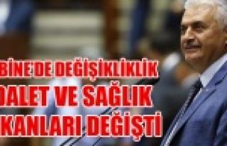 ADALET VE SAĞLIK BAKANI DEĞİŞTİ, İŞTE YENİ...