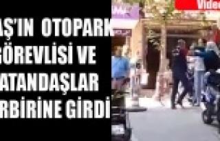 YAŞLI KADIN UTAŞ'IN OTOPARK GÖREVLİSİNİ...