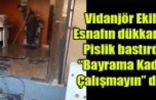 DÜKKANINI PİSLİK BASAN ESNAF UŞAK BELEDİYESİNDEN...