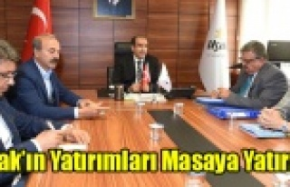 UŞAK'IN YATIRIMLARI MASAYA YATIRILDI