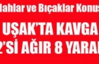 UŞAK'TA SİLAHLAR VE BIÇAKLAR KONUŞTU 2 Sİ...